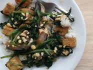 Wild Garlic, Tofu, Aubergine &amp; Oyster Sauce